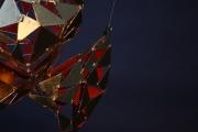 Vergoldete Fischskulptur aus Metall für das Hotel am Meer in Binz auf Rügen