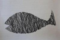 Großer Fisch aus 2 mm Draht