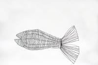 Fisch aus Stahldraht