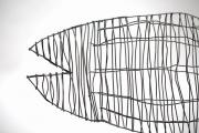 Fischskulptur aus Stahldraht