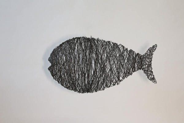Fisch aus 2 mm Draht gewickelt und geschweißt