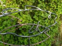 Fisch Skulpturen als Wasserspeier mit 3 Fischen aus Kupfer und Stahl