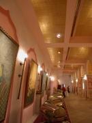 Die Palasthalle des  Maharadja eingedeckt für ein Fest