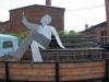 Unser Framo mit einer Skulptur auf der Ladefläche