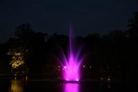 Beleuchtung der Fontäne im Französischem Garten in Celle