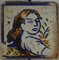 Klasse Fliese mit einem Frauen Portrait