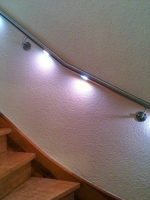 LED Handläufe aus 42 mm Edelstahlrohr