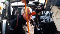 Friedhelm Hallmann und Peter Schmitz bei der Sonnenbeobachtung
