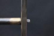 Rollbarer Kleiderständer, Garderobe oder Kleiderstange aus Stahl