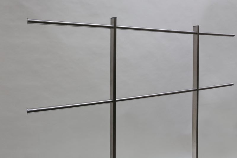 schraubbare edelstahl garderobe. Black Bedroom Furniture Sets. Home Design Ideas