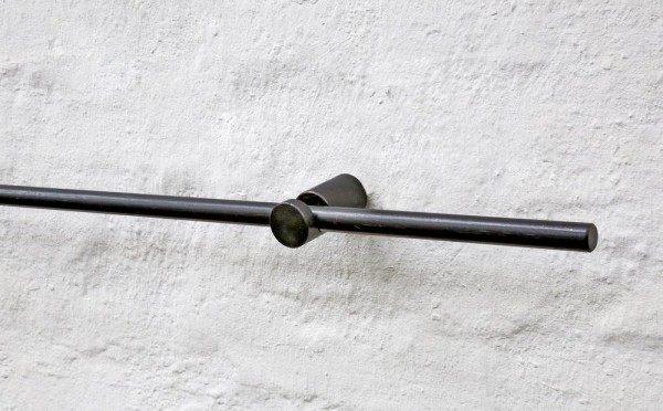 Gardinenstange mit 2 Haltern aus Stahl