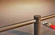 Gardinenstange aus D=16mm Rundstahl / Rohstahl mit klarem Zaponlack lackiert