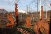 Verschiedene Gartenskulpturen aus 3mm Stahlblech ausgetrennt