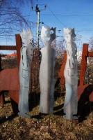 Gartenskulpturen aus 3mm Stahlblech plasmagetrennt, Preis pro Stück