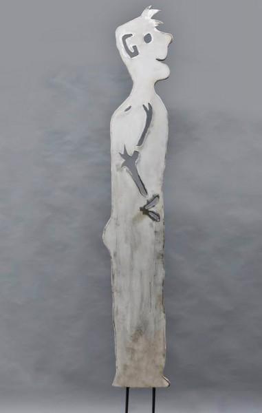 Diese Skulptur macht gute Laune: Gartenskulptur aus 3 mm Stahlblech plasmagetrennt