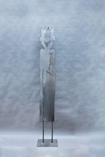 Plasmagetrennte Gartenskulptur aus Stahl