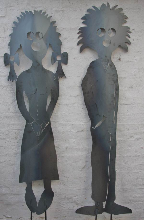 tolle gartenskulpturen aus 3 mm stahlblech gelasert. Black Bedroom Furniture Sets. Home Design Ideas