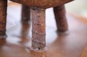 astreines Pflanzgefäß aus 1 mm rostigem Stahl