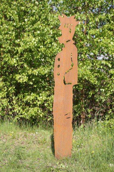 Skulptur aus Stahlblech