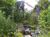 Zwei Gartenskulpturen aus plasmagetrenntem Stahlblech