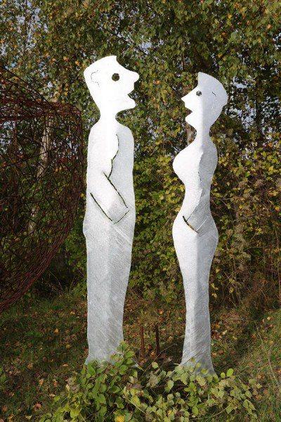 Gartenskulpturen aus verzinktem Stahlblech