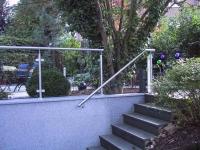 Geländer aus Edelstahl und Glas