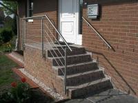 Treppengeländer aus Edelstahl, Preis per laufenden Meter