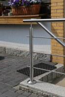 Reling Geländer aus Edelstahl mit 3 Relingstäben