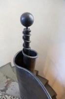 Treppengeländer aus Stahlblech geschmiedet