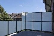Balkongeländer mit Wind- und Sichtschutz