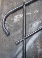 von Hand geschmiedetes Treppengeländer aus Stahl