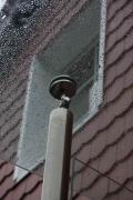 Geländer aus Edelstahl mit Vordach aus Glas