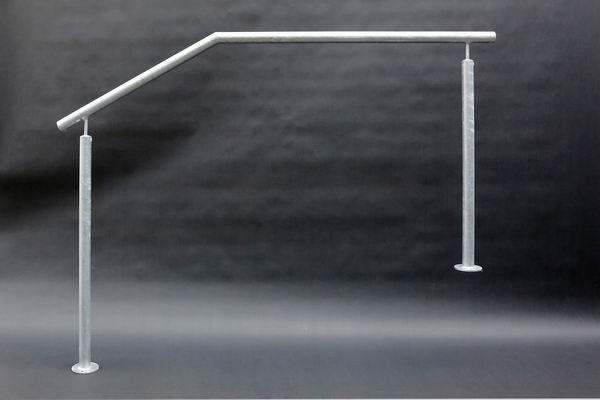 verzinktes Geländer aus 42mm Stahlrohr