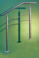 Handlauf aus Stahl mit 2 Relingstäben