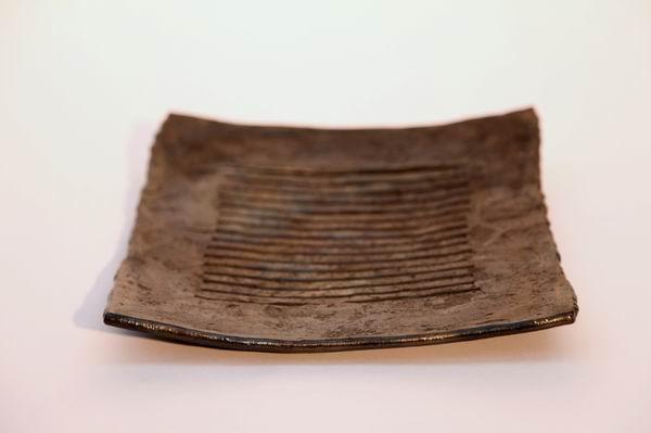 Geldteller aus 8mm Stahlstäben geschmiedet, mit Anlauffarben