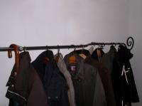Geschmiedete Garderobe mit Wandbefestigung