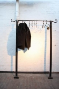 geschmiedete Garderobe aus Stahl - Anwendung
