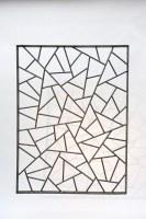 Gitter aus Roh Stahl mit der schönen Schmitzstruktur