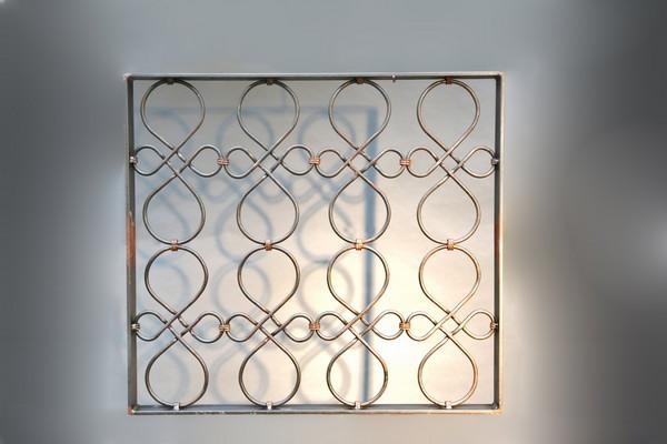 geschmiedetes Fenstergitter 78 x 71 cm