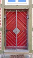 doppelflügelige Gittertüre aus Flachstahl