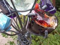 Glasblume aus Eisen und farbigem Glas