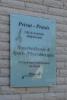 Bedrucktes Glasschild für eine Privat-Praxis