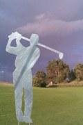 Der Golfer. Skulptur feuerverzinkt