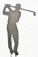 Der Golfer. Skulptur aus 3 mm Stahlblech plasmagetrennt