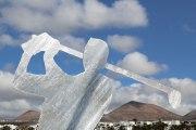 Golfer - Skulptur aus Stahl plasmageschnitten und feuerverzinkt