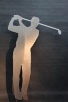 gelaserte Golf Skulptur Stahlblech