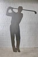 Die Gartenskulptur ′′Golfer′′ Art