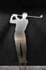 Eleganter Abschlag - Golfer aus hochwertigem Edelstahl