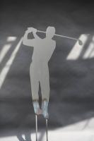Golfskulptur aus 3 mm Stahlblech gelasert