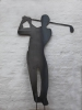 Gartenskulptur als Golfer aus 3 mm Stahlblech plasmagetrennt